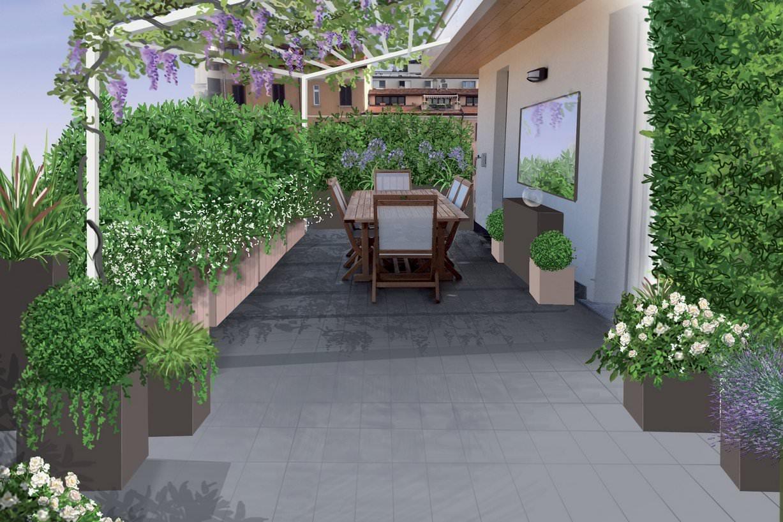 Progetti preventivi piscine e giardini - Rivestimento terrazzo ...